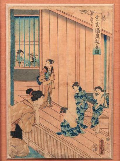 UTAGAWA TOYOKUNI III (1786-1865): OBAN YOKO-E