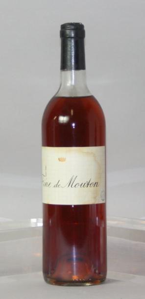 * 1 BOUTEILLE EAU DE VIE - FINE de MOUTON...