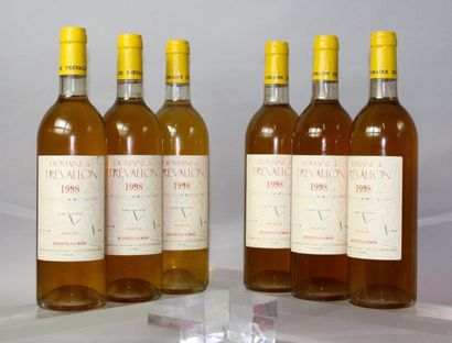 * 6 BOUTEILLES DOMAINE DE TREVALLON Blanc...