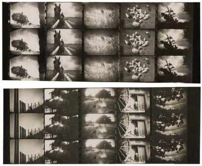 JEAN DREVILLE 2 compositions modernistes vers 1930 Montages de morceaux de films...