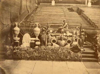 EXPOSITION UNIVERSELLE, PARIS 1867 9 photographies par BISSON frères, Pierre PETIT...