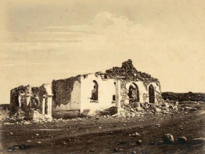 COLONEL JEAN-CHARLES LANGLOIS «Ruine dans le ravin d'Otschakoff» guerre de Crimée,...