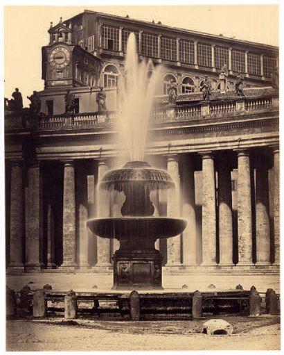 ROBERT MAC PHERSON Rome, «Vaticano» vers 1855 Épreuve sur papier salé-albuminisé...