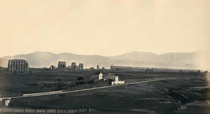 ROBERT MAC PHERSON (ATTRIBUÉ À) Rome, aqueduc de Claude, vers 1855 Épreuve sur papier...