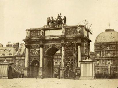 FÉLIX JACQUES A. MOULIN Paris, 2 photographies vers 1855 «Louvre» et «Carousel» [sic]...