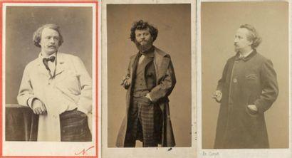 [PHOTOGRAPHES] 3 autoportraits par Nadar,...