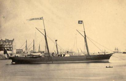 BATEAUX 3 photographies, années 1860 «Solon...