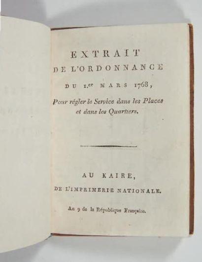 Extrait de l'ordonnance du 1er mars 1768, pour régler le service dans les places...