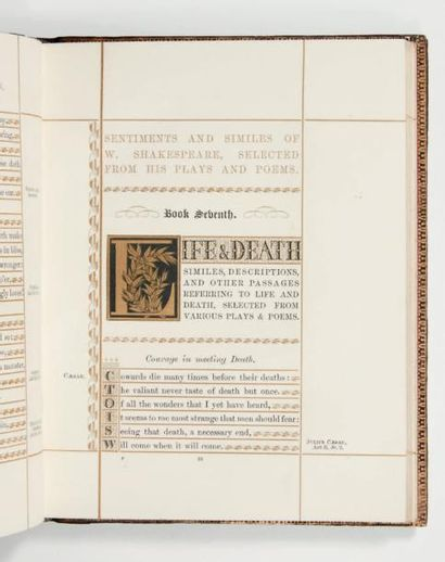 SHAKESPEARE Sentiments and Similes of William Shakespeare. A classified selection...