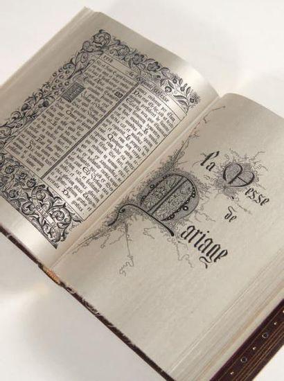 Livre de prières tissé d'après les enluminures...