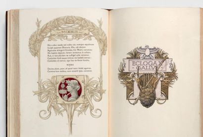 VIRGILE Les Églogues avec les illustrations d'Adolphe Giraldon gravées sur bois en...