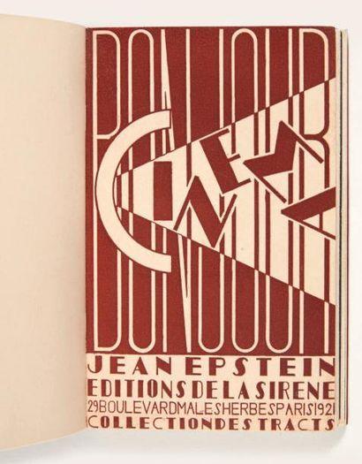 EPSTEIN (Jean) Bonjour cinéma. Paris, Éditions de la Sirène (Collection des Tracts),...