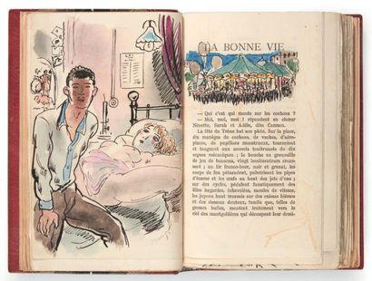 GALTIER-BOISSIERE (Jean) La Bonne Vie, roman. Paris, Bernard Grasset,1925 .In-12...