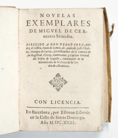 CERVANTES (Miguel de) Novelas exemplares. Dirigido a don Pedro Fernandez de Castro...