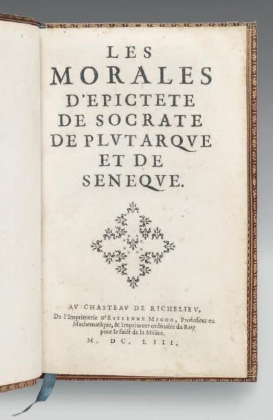[DESMARETS DE SAINT-SORLIN (Jean)] Les Morales d'Epictete de Socrate de Plutarque...