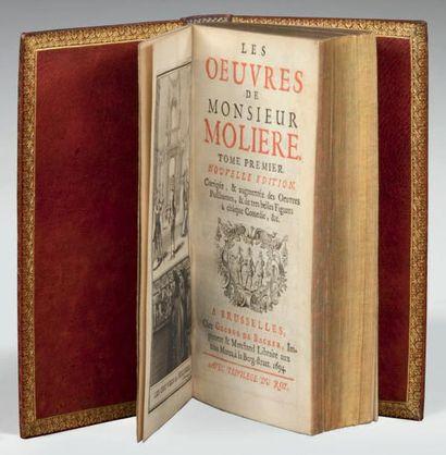 MOLIERE Les Oeuvres. Nouvelle édition. Corrigée, & augmentée des oeuvres posthumes,...