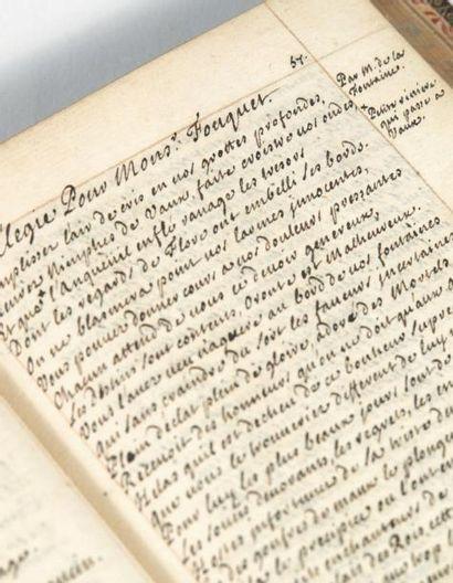 Recueil de vers choisis, 1695. Sans lieu, 1695-[1699]. Manuscrit sur papier, petit...