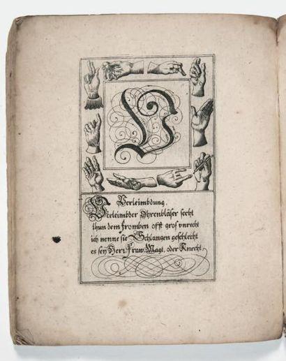 [ABÉCÉDAIRE]. Curieuse und deutliche Anweisung zu zierlicher teutscher Schreib-Art...