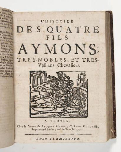 [BIBLIOTHÈQUE BLEUE]. Recueil de 7 pièces imprimées à Troyes par les Oudot et Garnier....