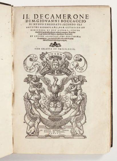 BOCCACE Il Decamerone di nuovo emendato secondo gli antichi essemplari, per giudicio...