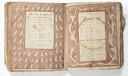 Manuscrit richement illustré du XVIIIe siècle....