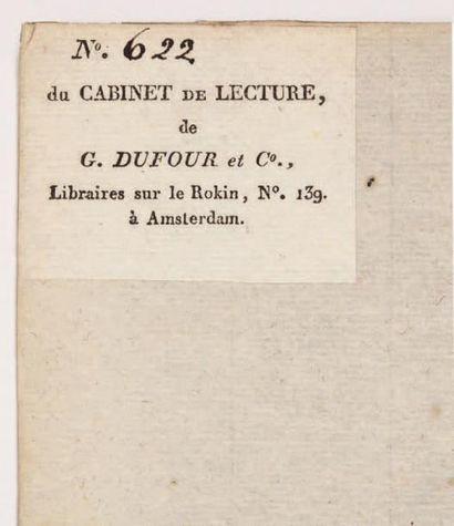 [DENON (Dominique-Vivant, baron) Point de lendemain, conte, in:] Mélanges littéraires,...