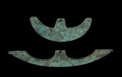 DEUX HACHES DE COMBAT. Égypte, Moyen Empire....