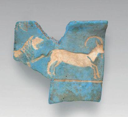SCÈNE DE CHASSE. Égypte, Nouvel Empire, fin...