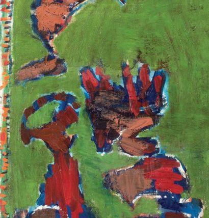 Pierre Alechinsky (né en 1927) Tableau d'avancement, 2000 Huile sur toile. Signée,...