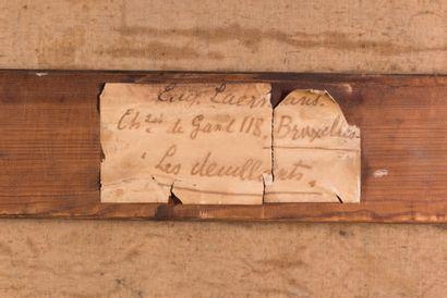 Eugène Laermans (1864-1940) Les deuillants, 1894 Huile sur toile. Signée et datée...