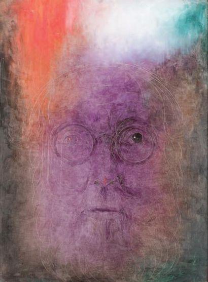 FÉLIX DE BOECK (1898-1995) Autoportrait, 1970-1980 Huile sur panneau. Signée et datée...