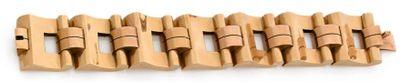Bracelet en deux tons d'or 18K (750), articulé...