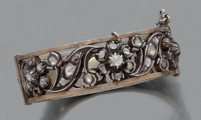 Bracelet en argent et en or 18K (750) ajouré...