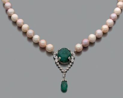 Collier de perles de culture baroques en...