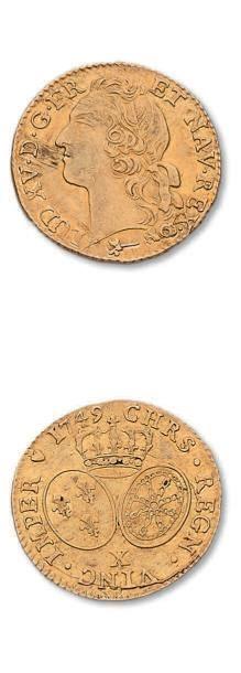Louis d'or au bandeau, 1749. Amiens. D. 1643....