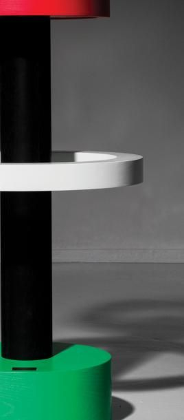 ETTORE SOTTSASS   1917-2017   Italie Table haute modèle «Esercizi Formali» issue...