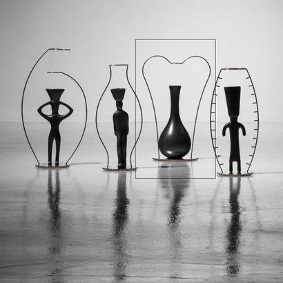 ANDREA BRANZI | Né en 1938 | Italie Vase soliflore modèle «Italico» issu de la série...