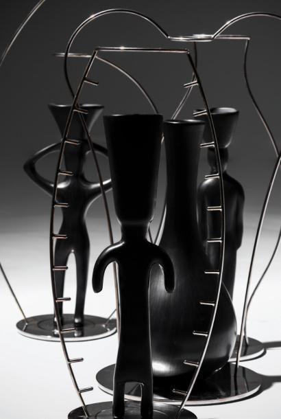 ANDREA BRANZI   Né en 1938   Italie Vase soliflore modèle «Maru» issu de la série...