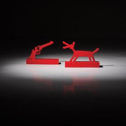 ANDREA BRANZI   Né en 1938   Italie Sculpture graphique modèle «The Revolver» issue...