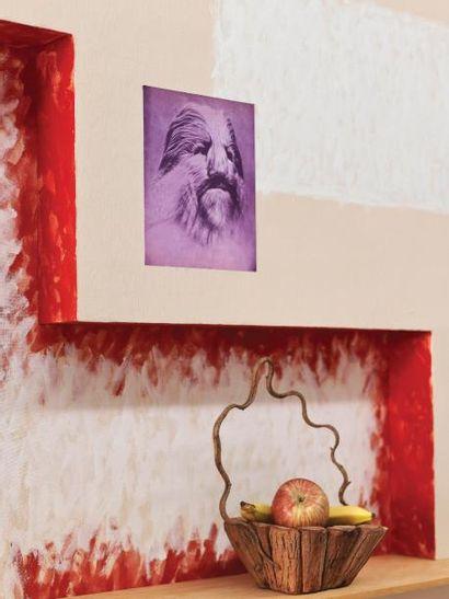 ANDREA BRANZI   Né en 1938   Italie Unique tableau-étagère modèle «Figure 4» issu...