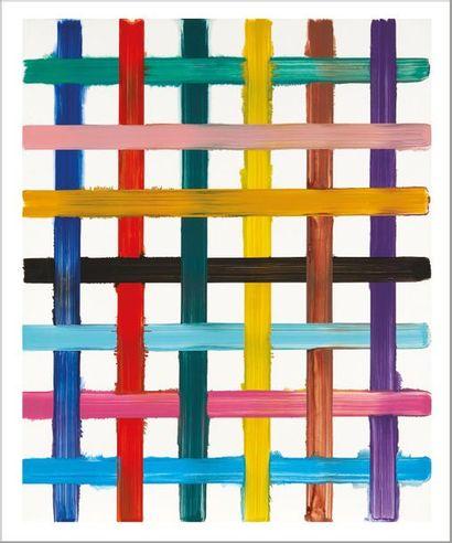 Bernard FRIZE (né en 1949) 20D Transfert, 2003 Acrylique et résine sur toile. Signée...