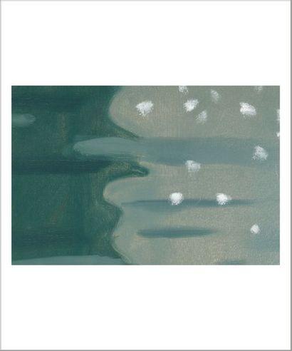 Alex KATZ (né en 1927) Green reflections #2, série Black Brook, 1999 Huile sur toile....