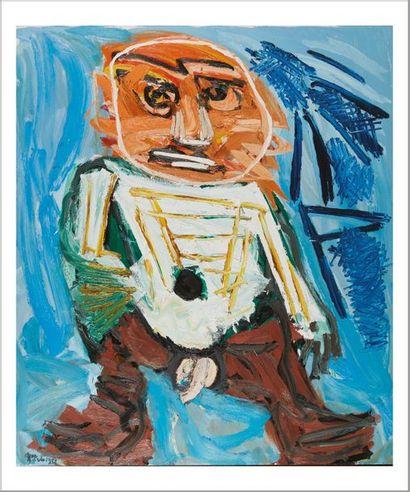 Karel Appel (1921-2006) Little big boy, 1981 Huile sur toile. Signée et datée en...