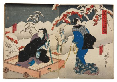 Divers artistes : Kunisada II (1828-1880),...