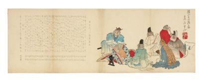 Divers artistes de l'école Shijo Ensemble...