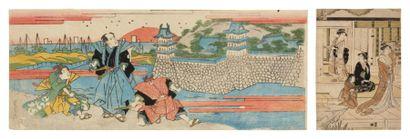 Lot de : a - Eisen Ikeda Keisai (1790-1848)...