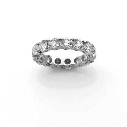 ALLIANCE sertie de diamants brillantés en...