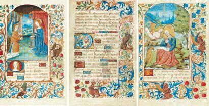 [...]. Livre d'heures à l'usage de Troyes. Manuscrit sur vélin. Vers 1480, in-12...