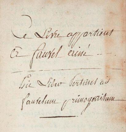 GRECO (G.) Le jeu des Eschets... Paris, N. Pepingue, 1669, in-16, maroquin rouge,...