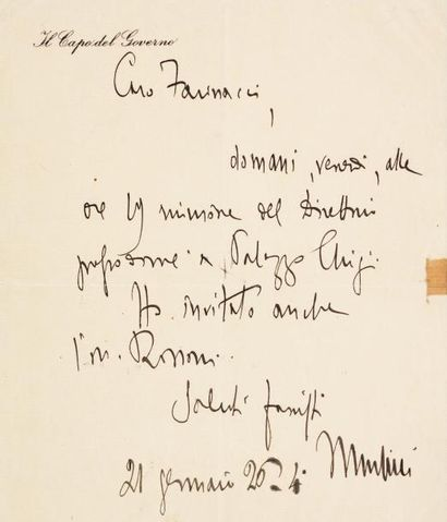 MUSSOLINI Benito (1883-1945)